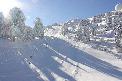 Troodos Snow in Cyprus. Ski Cyprus
